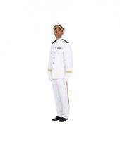 Wit officier kapiteinspak heren