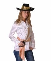 Wit piraten shirt voor dames