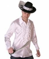 Wit piraten shirt voor heren