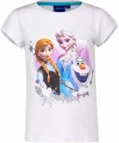 Wit t-shirt frozen voor meisjes