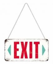 Wit tinnen ophangbordje exit