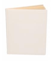 Wit trouwboekje deluxe 27 cm