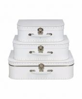 Wit vintage koffertje 25 cm