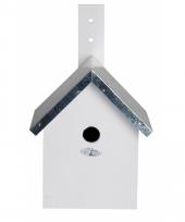 Wit vogel nestkastje voor mezen 31 cm