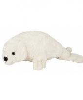 Wit zeehond knuffeltje 40 cm