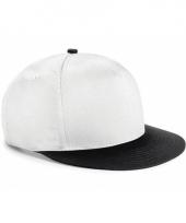 Wit zwarte retro baseball cap voor kinderen