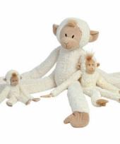 Witte apen knuffel 85 cm