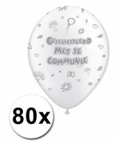 Witte ballonnen communiefeestje 10047746