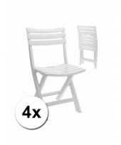 Witte bbq stoelen 4 stuks 10082345