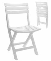 Witte bbq stoelen 4 stuks