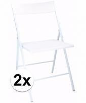 Witte bbq stoeltjes set van 2