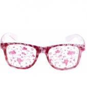 Witte bril met bloeddruppels