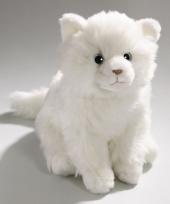 Witte cyprese katten knuffel