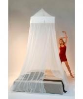 Witte decoratie klamboe voor 2 personen 265 cm