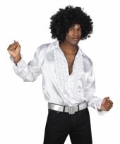 Witte disco blouse voor heren