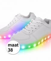 Witte disco sneakers voor volwassenen maat 38