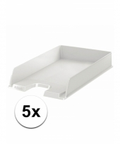 Witte documentenbak a4 5x