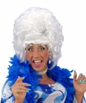 Witte drag queen pruik