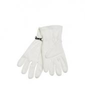 Witte fleece handschoenen voor dames en heren