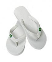 Witte flip flop slippers voor dames