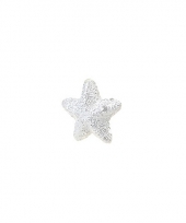 Witte glitter deco sterretjes 2 5 cm