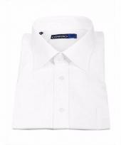 Witte heren blouse met extra lange mouwen