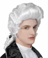 Witte heren pruik barok