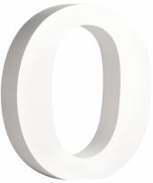 Witte houten letter o