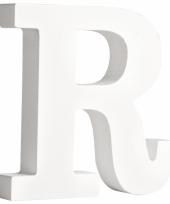 Witte houten letter r