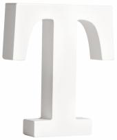 Witte houten letter t