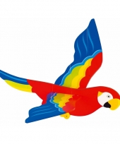Witte houten papegaai mobiel 56 cm