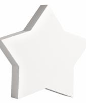 Witte houten ster
