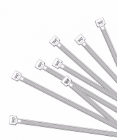 Witte kabelbinders 10 cm 100 stuks
