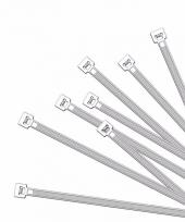 Witte kabelbinders 20 cm 100 stuks