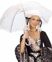 Witte kanten paraplu voor dames