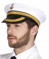Witte kapiteinspet voor volwassenen