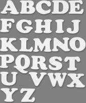 Witte karton letters 3 setjes