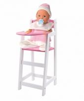 Witte kinderstoel voor een pop