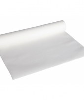 Witte kleur luxe tafelkleed loper