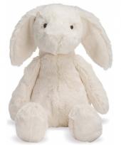 Witte konijnen knuffel 19 cm