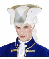 Witte lakei hoed