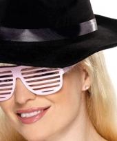 Witte lamellenbril