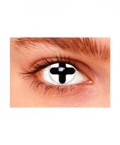 Witte lenzen met zwart kruis