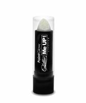 Witte lippenstift met glitters