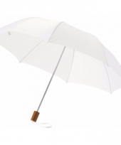 Witte mini paraplu 35 cm