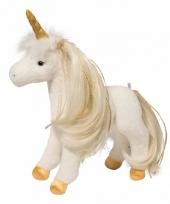 Witte paarden knuffel met kam 30 cm