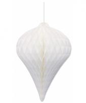 Witte pegel versiering 30 cm