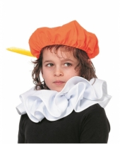 Witte pieten knecht kraag voor kinderen