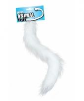 Witte pluizige dieren staart 50 cm