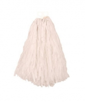 Witte pompoms 28 cm